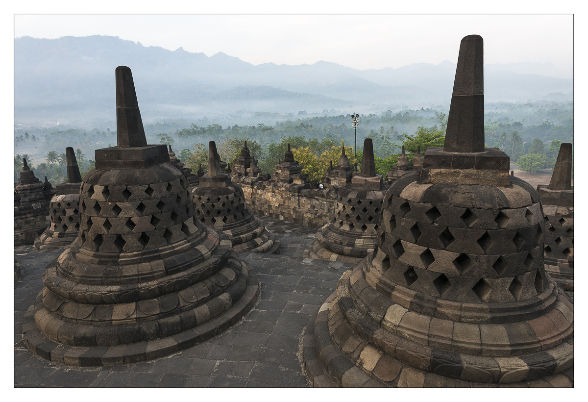 Sunrise on Borobudur